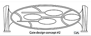 'Gate' design #2, by Gilbert McCann