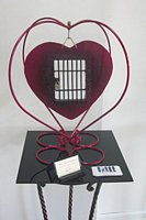 'For Safe Keeping' metal sculpture